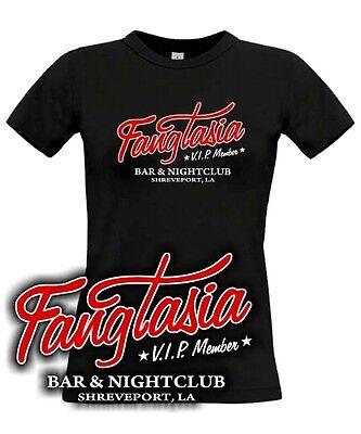 GIRL T-SHIRT * FANGTASIA * vip true blood vampire bar nightclub movie tv kult