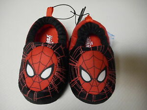 Boys Toddler New Marvel Ultimate Spiderman Slippers House Shoes Small 5//6 NEW