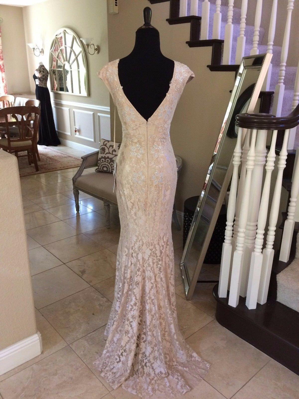 640 NWT NUDE JOVANI PROM PAGEANT PAGEANT PAGEANT FORMAL WEDDING DRESS GOWN SIZE 0 eaef64