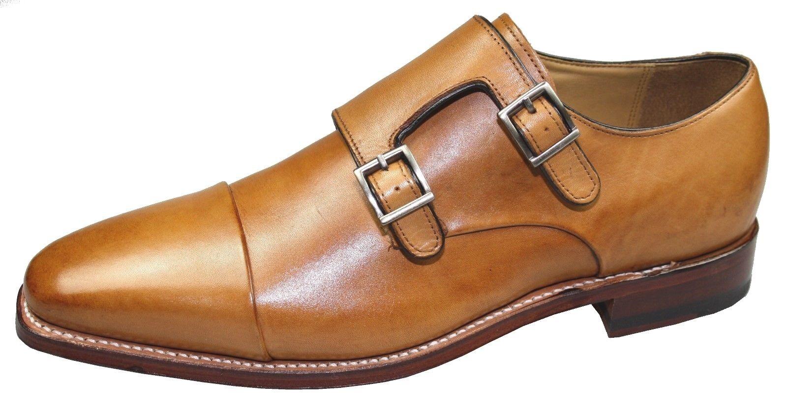 Gordon & Bros. 4924 4924 4924 Lucquin rahmengenähte Schuhe Double Strap Monk, tan bc5
