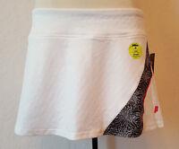 White Prince Tennis Golf Running Yoga Sports Skirt Skort Pink W/ Black Trim