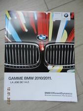 Catalogue GAMME BMW 2010 2011 + tarif 2010 2011