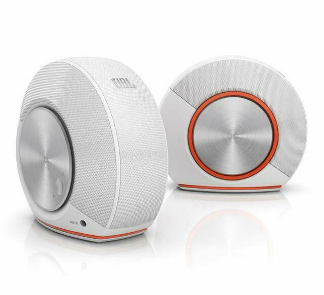 JBL Pebbles Bus Powered Speakers White built-in USB DAC High Sound Quality