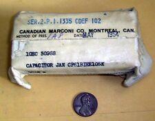 Canadian Marconi Vintage Capacitor JAN CP61B1EE105K - NSN 5910-00-164-7449