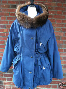 Details Ladies' With Trimming Bret Microfiber About Raccoon Gil Winter Parka Size 40 Fur Coat CoeBxrd