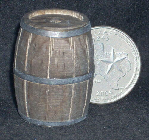 Dollhouse Miniature Western Wooden Barrel 1:12 or 1:24 Weathered #WO1910 Mexican