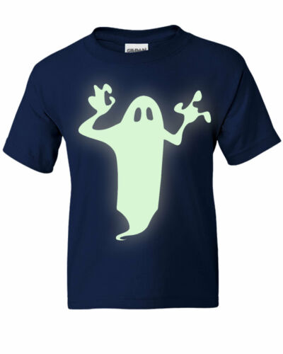 Kids Boys Girls HALLOWEEN Glow-in-the-Dark Ghost T-shirt  NEW Ages 3-13yrs