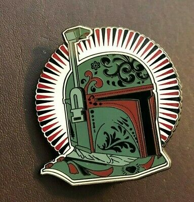 disney pin star wars Boba Fett helmet day of dead filigreee art mandalorian