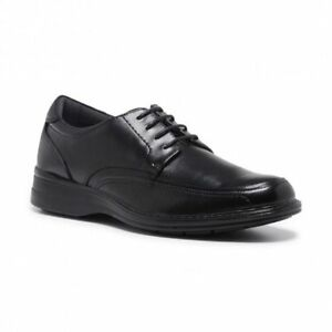 hush puppies mens torpedo lace up black leather comfort