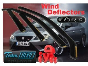 Seat-Leon-MK3-2013-2017-HATCHBACK-Wind-deflectors-4-pc-set-HEKO-28239