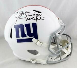 Lawrence-Taylor-Signed-NY-Giants-F-S-Flat-White-Helmet-w-Insc-JSA-W-Auth-Blk