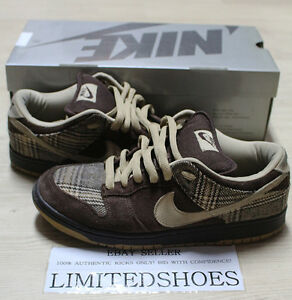 detailed look 37dce 30a7a Image is loading NIKE-DUNK-LOW-PRO-SB-TWEED-BAROQUE-BROWN-