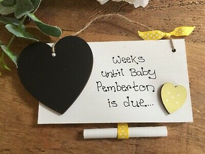 Pregnancy Announcement Sign Grandparents Again Baby Countdown Plaque Weeks Until Our Next Grandchild Arrives