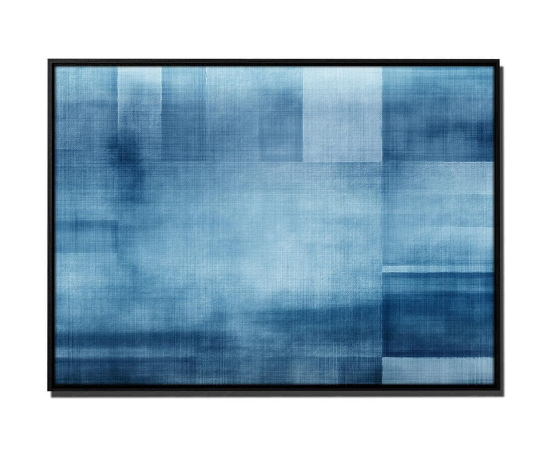 105x75cm Leinwandbild Petrol Geometrisch Abstrakt