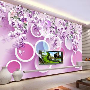 3D Circle Petals 647 Wallpaper Murals Wall Print Wallpaper Mural AJ WALL AU Kyra