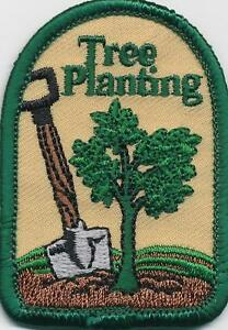 girl boy cub tree planting arbor day fun patches crests