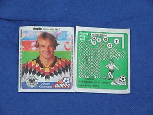 duplo-Sammelbild-Nr-31-Fussball-WM-039-94-Juergen-Klinsmann