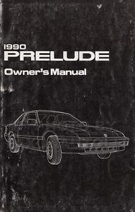 original 1990 honda prelude owners manual oem owner guide book si sr rh ebay co uk 1993 Honda Prelude 1995 Honda Prelude