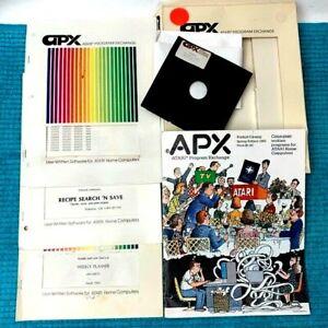 APX Atari Program Exchange Written Software-Cribbage RecipeNsearch-WeeklyPlaner