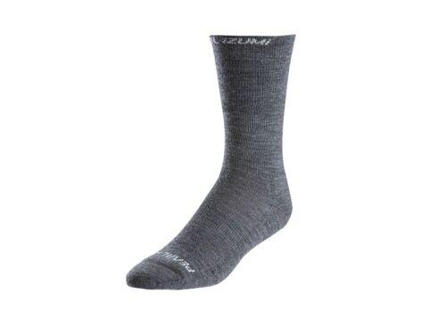 Pearl Izumi Elite Thermal Wool Cycling Socks Shadow Grey Medium US 6-8
