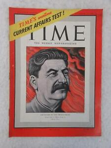 WWII Vintage TIME Magazine October 27, 1941 STALIN DICTATORSHIP on Cover