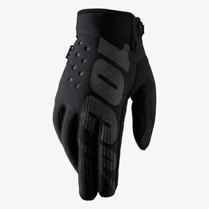 reputación primero amplia selección de diseños nueva estilos Detalles de 100% Joven Brisker Frío Clima Invierno Motocross Moto Guantes  Negros Niños