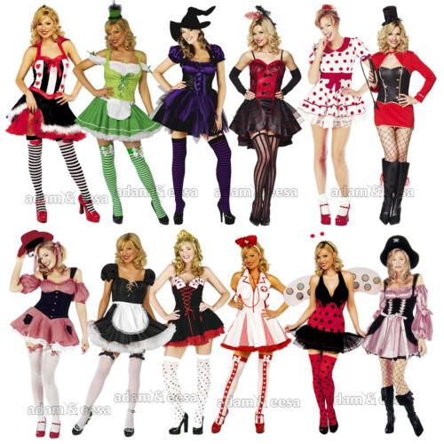 Da Donna Fancy Dress Abiti Cheerleader Pixie Cappuccio Equitazione Taglie XS-XL