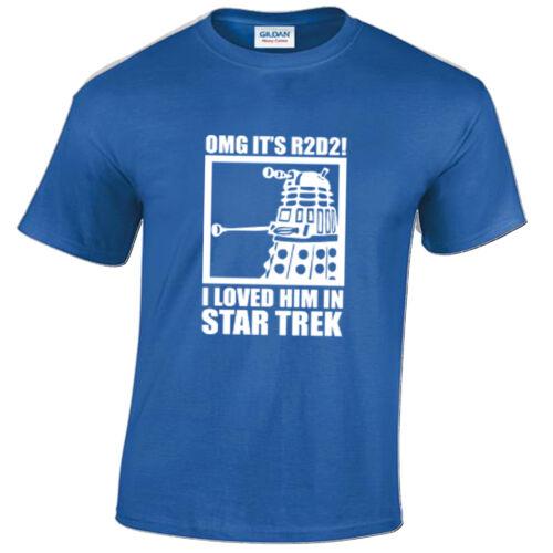 Kids OMG R2 D2 I Loved Him In Star Trek t shirt funny R2D2 sci fi dalek wars
