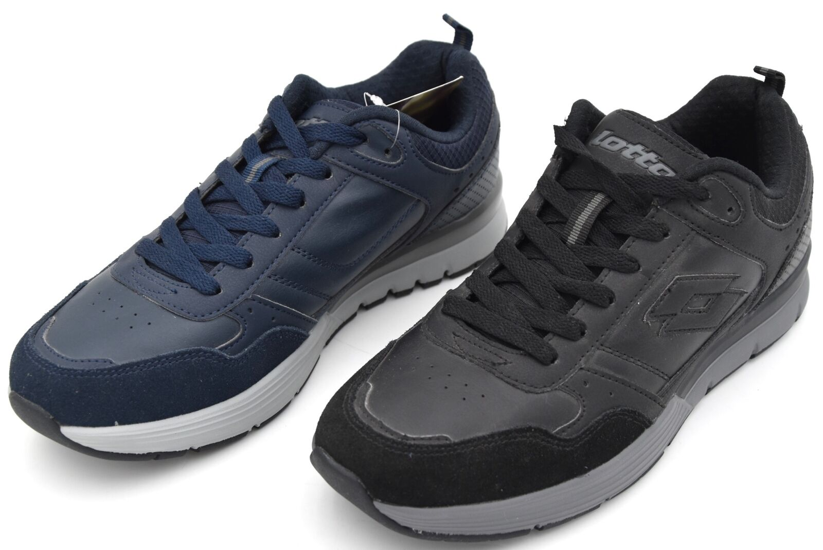 LOTTO LIFES MAN SNEAKER SHOES CASUAL FREE TIME CODE T2063 - T2064 GRANDE V NU