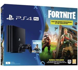Sony Playstation Ps4 Pro 1tb Fortnite Battle Royale Bundle Console