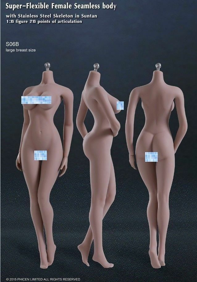 Tbleague s06b 1   6 der nahtlose bräune körper phicen modell große pleite 12  - figur
