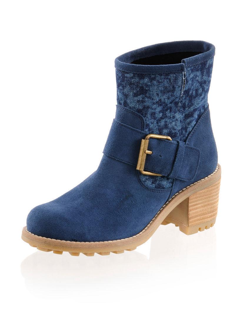 Zapatos botas tobillo botas de cuero de Alba Moda (5) (5) Moda edd0d5
