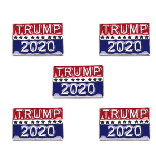 5Pcs Donald Trump 2020 Election President Badge Button Pin Campaign Brooch US