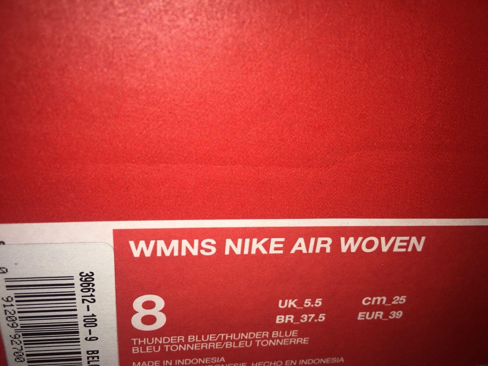 Nike Air Woven Blau Trainers Thunder Blau Woven UK 5.5, EUR 39, US 8, BNIB 60f4ae