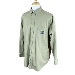Ralph-Lauren-Polo-Men-039-s-Long-Sleeve-Button-Down-100-Cotton-Twill-Khaki-Shirt-XL