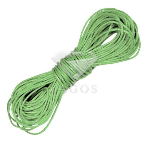 15 Colour 20m Waxed Cotton Cord Thong Wire String Necklaces Jewelry Making 1mm