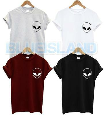 ALIEN POCKET T SHIRT UFO HIPSTER HATE LOVE SWAG BLOGGER TUMBLR FASHION UNISEX