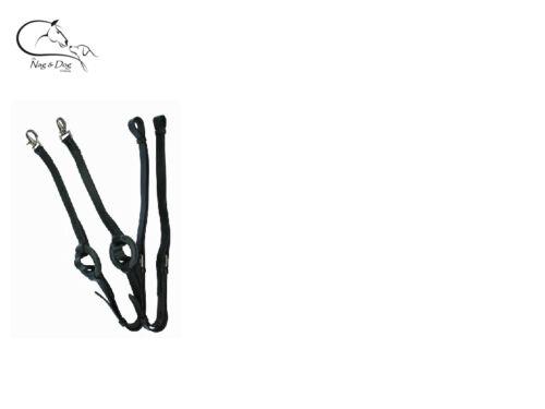 cheval poney longe livraison gratuite HKM côté rênes avec anneau en caoutchouc insert cuir