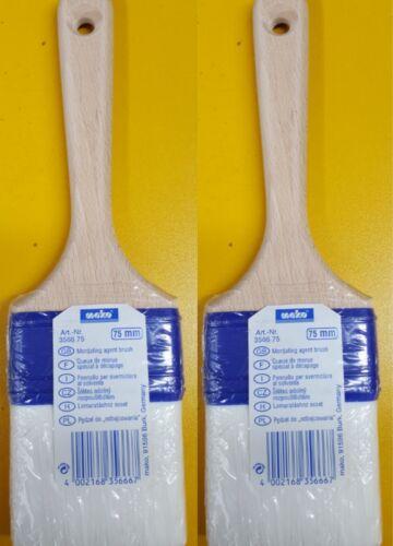 2 Stk Mako® Abbeizpinsel metallfrei mit Spezial-Nylonborsten zum Abbeizen 75mm