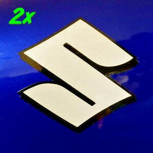 Suzuki S logo Reflective White 1000 decals 600 sticker 450 gsxr 1100 drz 750 rmz