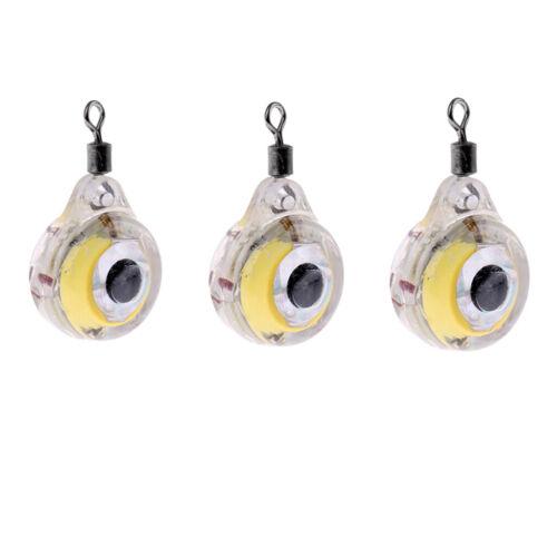 3 3Pcs LED Tiefer Tropfen Unterwasseraugen Form Fischen Köder Licht Köder