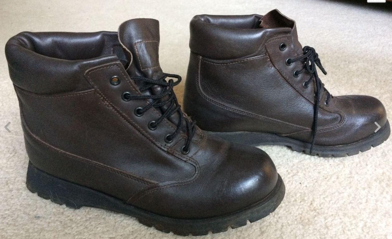 Damenschuhe Dark Braun Leder GORE-TEX Rocky Stiefel Hiking Größe 9.5 W Wide