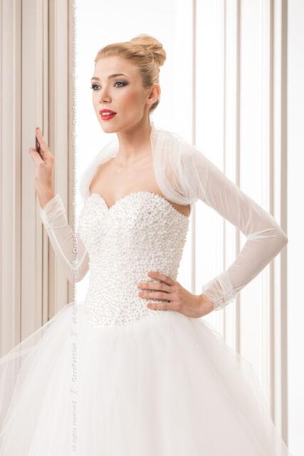 Ossa Women Bridal Tulle Bolero Shrug Wedding Jacket Shawl S M L XL XXL XXXL