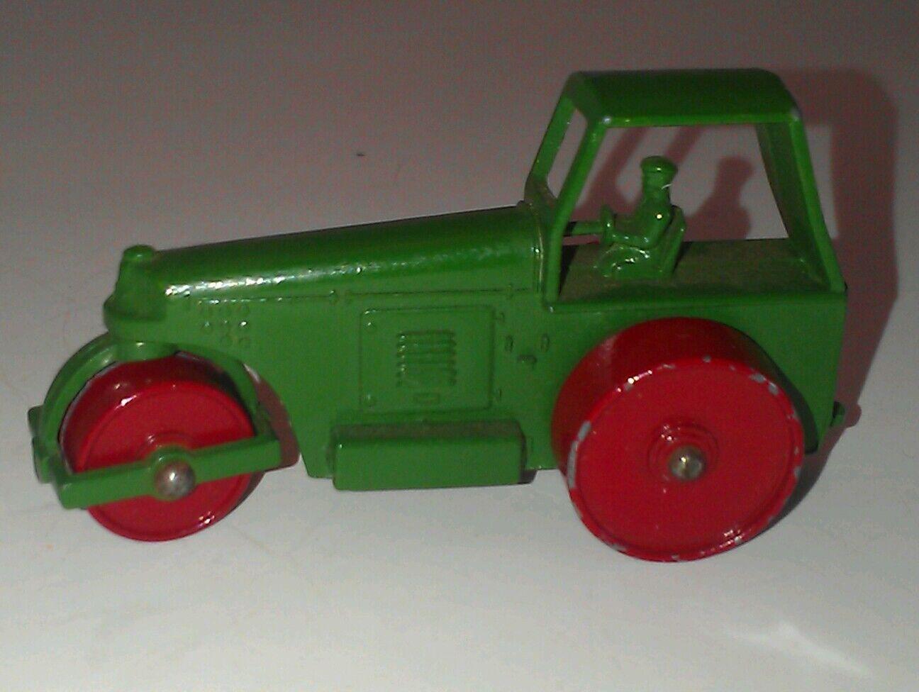 Vintage 60's Matchbox #1 Diesel Road Roller Green Driver Made in England