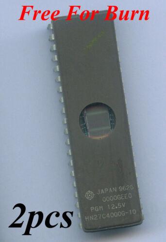 2pcs Hitachi 27C4000 4Mbit UV EPROM HN27C4000G DIP40 *Free For Burn*