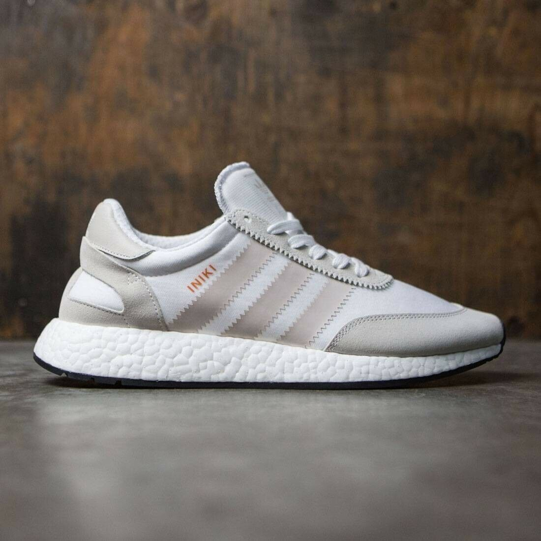 Adidas Iniki Runner Boost White Pearl Grey Size 12 VNDS NMD Ultra Yeezy Boost