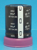 Electrolytic Capacitor Panasonic 390uf 400v 2 Pcs Snap In Guitar Amp