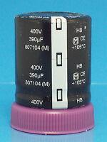 Electrolytic Capacitor Panasonic 390uf 400v 2 Pcs Snap In Guitar Amp