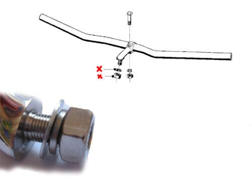 STAINLESS STEEL BMW //2 HANDLE BAR RISER NUTS R50 R60 R69S R26 R27