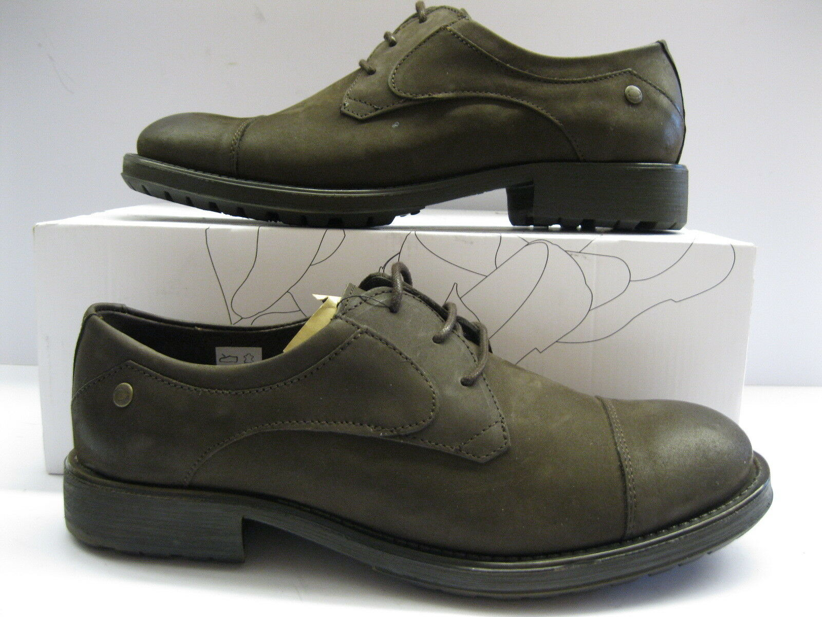 Base London Mens Livingston Waxy Leather nubuck Laced Shoes